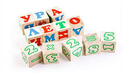 Детские кубики с буквами